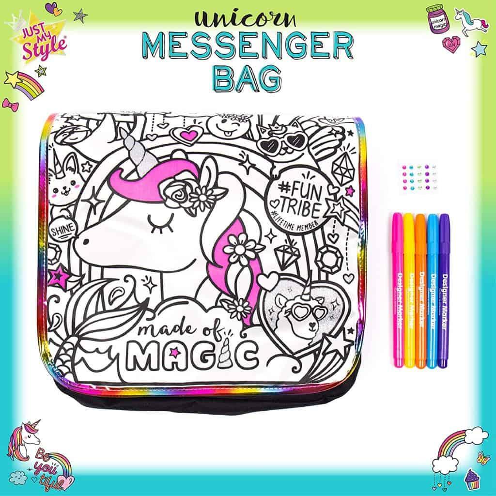arts and crafts unicorn messenger bag